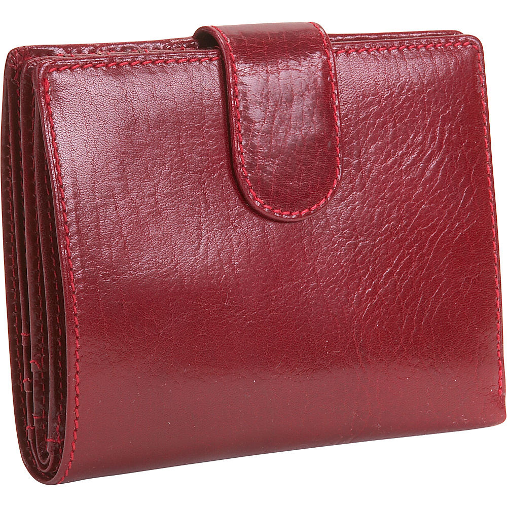 Derek Alexander Ladies Medium Credit Card Wallet - Red