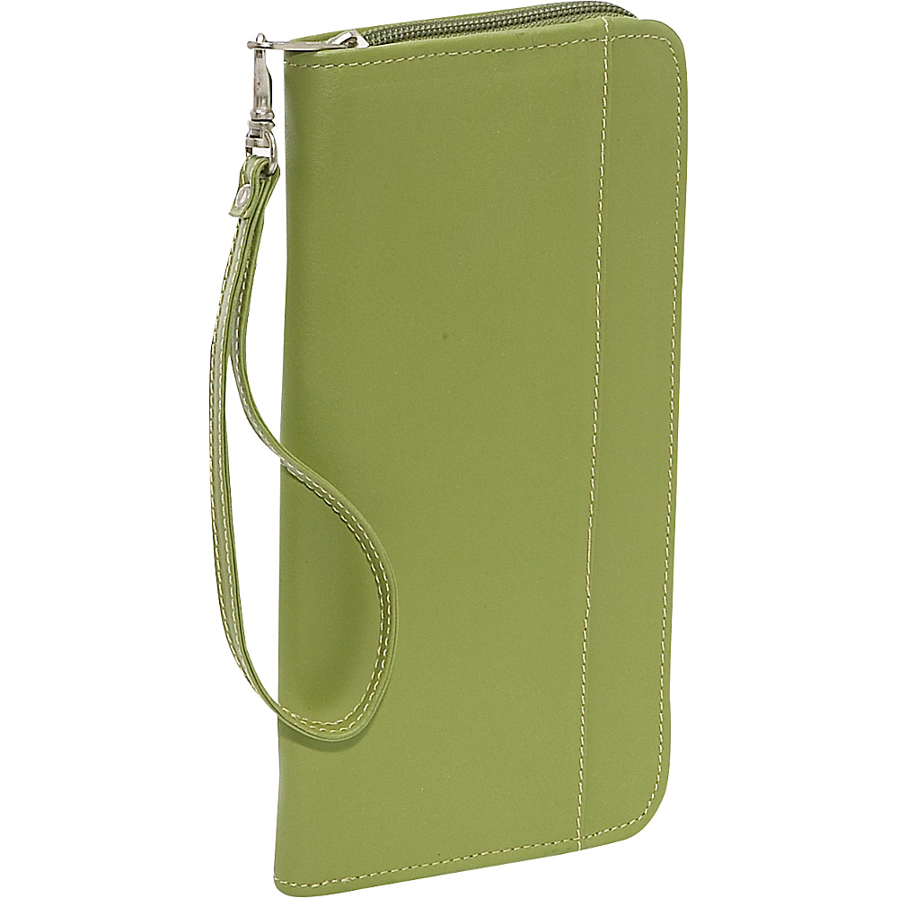 Piel Zippered Passport/Ticket Holder Apple - Piel Travel Wallets - Travel Accessories, Travel Wallets