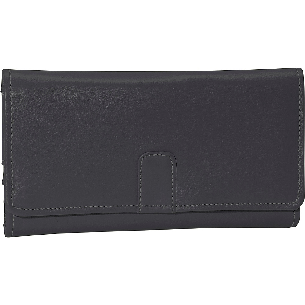Piel Deluxe Ladies Wallet - Black - Women's SLG, Women's Wallets