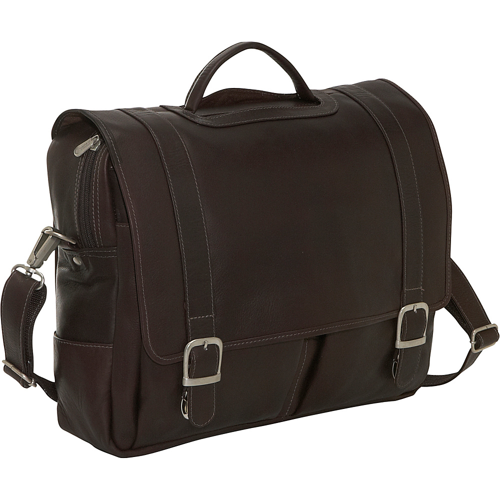Piel Ultimate Organized Portfolio Chocolate - Piel Non-Wheeled Business Cases - Work Bags & Briefcases, Non-Wheeled Business Cases