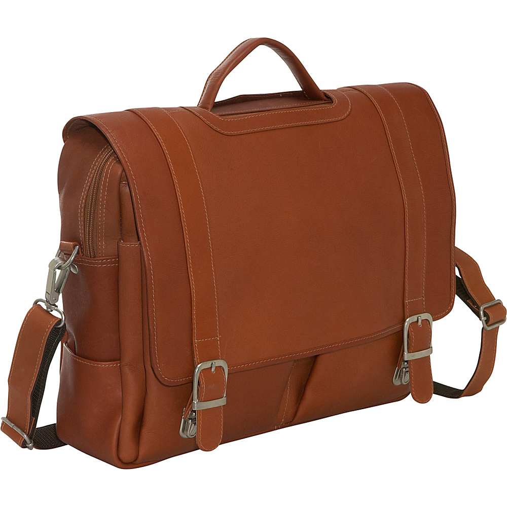 Piel Ultimate Organized Portfolio - Saddle - Work Bags & Briefcases, Non-Wheeled Business Cases