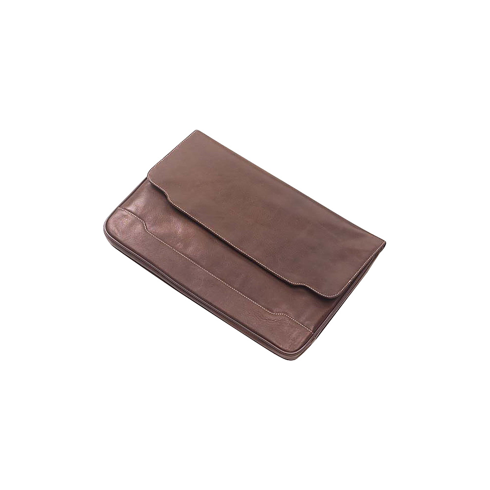 Clava Tuscan Leather Document Folio - Tuscan Cafe - Work Bags & Briefcases, Business Accessories