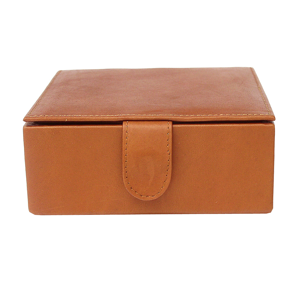Piel Multi-Use Small Leather Box - Saddle - Work Bags & Briefcases, Business Accessories