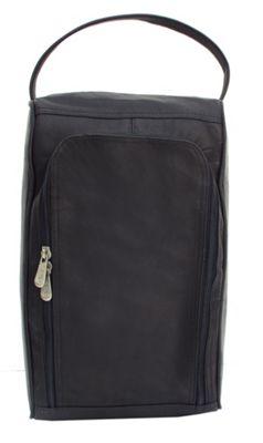Piel U-Zip Shoe Bag - Black