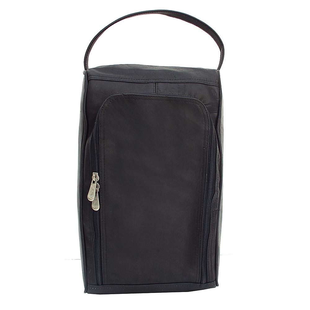 Piel U-Zip Shoe Bag - Black - Travel Accessories, Travel Organizers