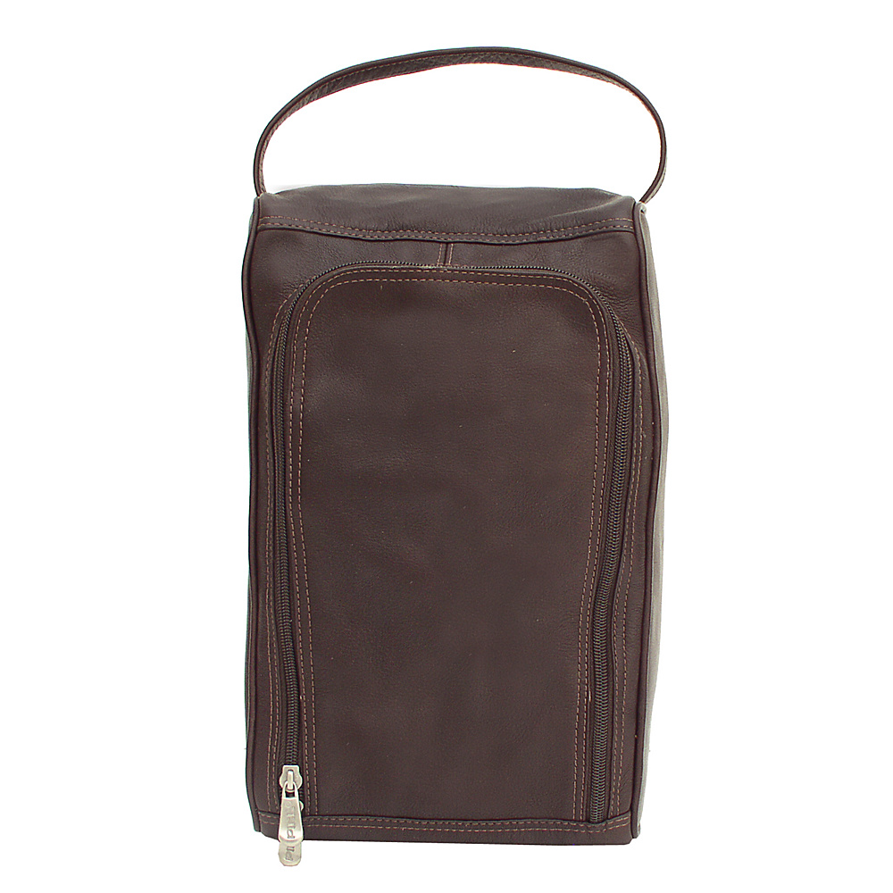 Piel U-Zip Shoe Bag - Chocolate - Travel Accessories, Travel Organizers
