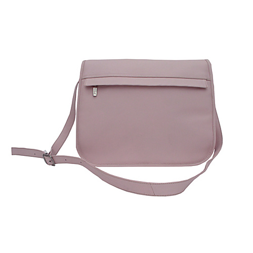 Piel Flap Over Zippered Bag - Pastel Pink