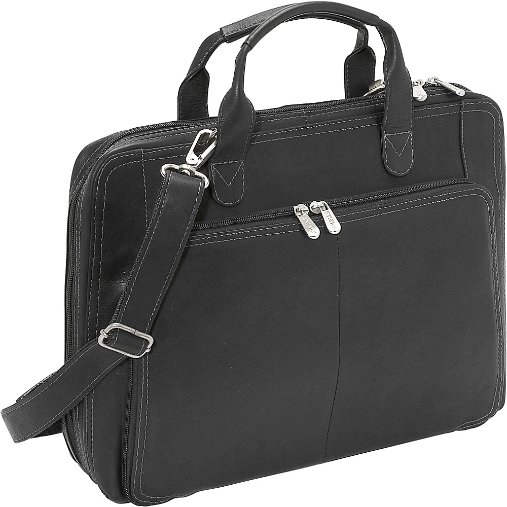 Piel Slim Modern Portfolio - Black - Work Bags & Briefcases, Non-Wheeled Business Cases