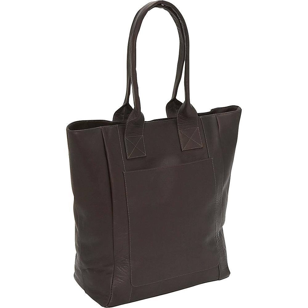 Piel XL Tote - Chocolate - Handbags, Leather Handbags