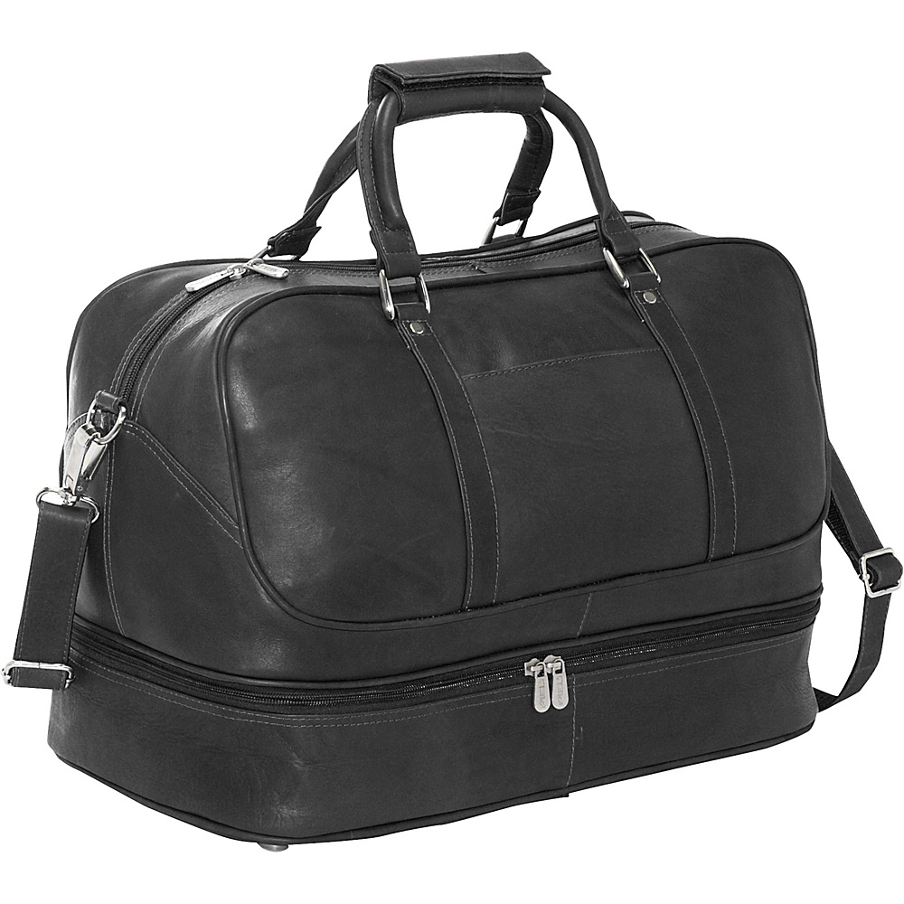Piel False Bottom Sports Bag - Black - Luggage, Luggage Totes and Satchels