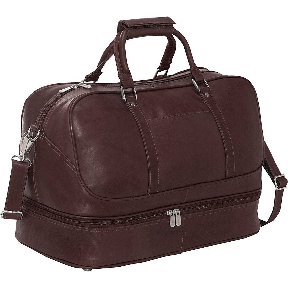 Piel False Bottom Sports Bag - Chocolate - Luggage, Luggage Totes and Satchels