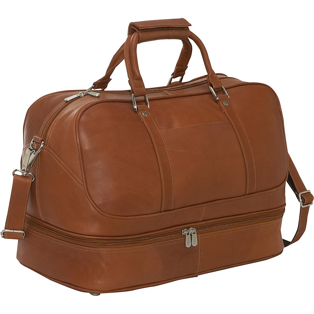Piel False Bottom Sports Bag - Saddle - Luggage, Luggage Totes and Satchels