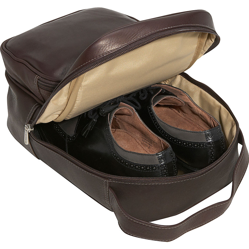 Piel Carry-All Vertical Shoe Bag - Black