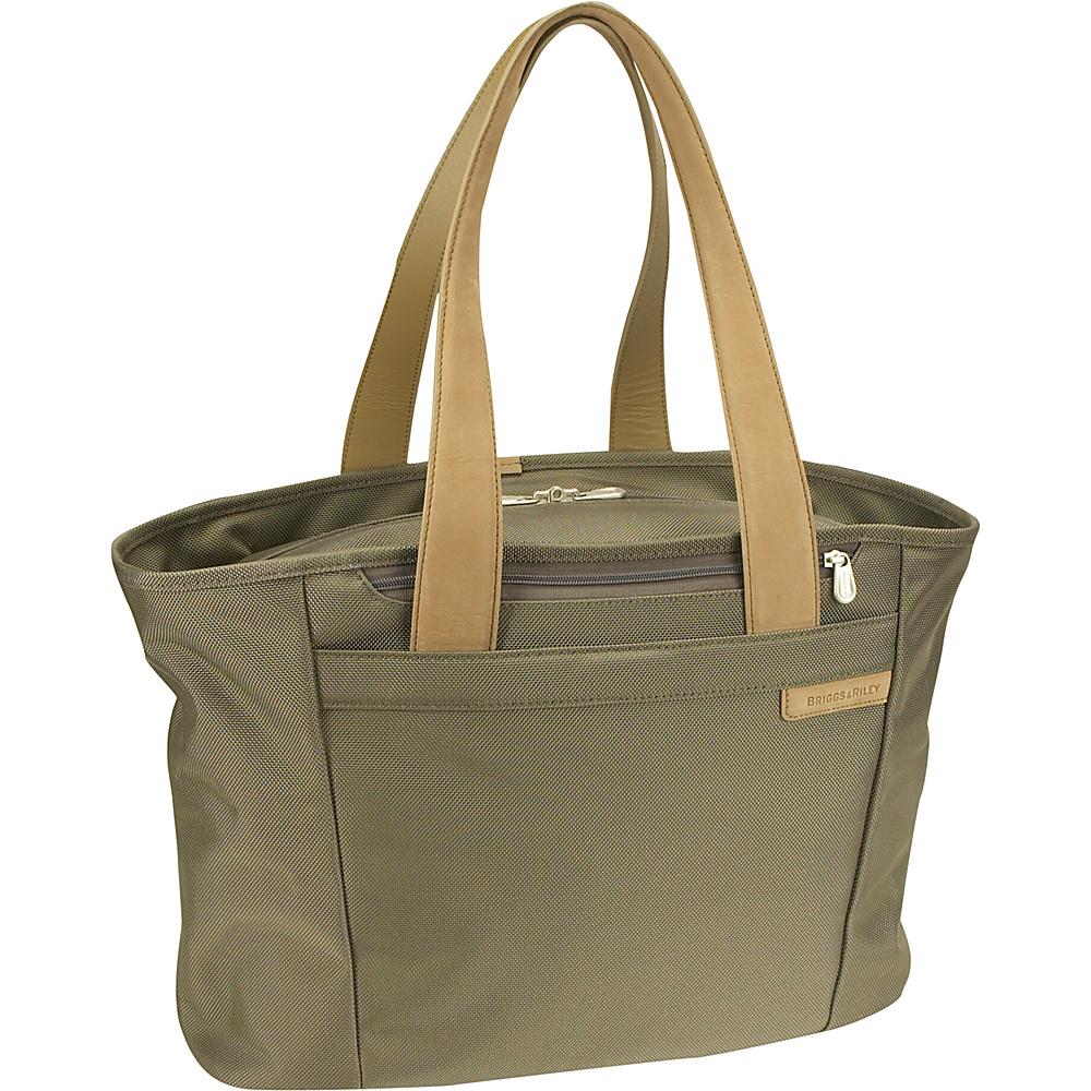 Briggs & Riley Baseline Large Shopping Tote - Olive - Luggage, Luggage Totes and Satchels
