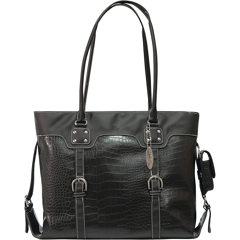 Mobile Edge Faux Croc Signature Tote - 16PC / 17 - Work Bags & Briefcases, Women's Business Bags