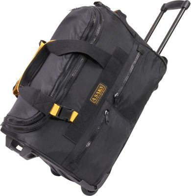 "Image of A. Saks EXPANDABLE 20"" Rolling Trolley Duffel - Black"