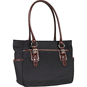 Rain or Shine Tote Black/Brown