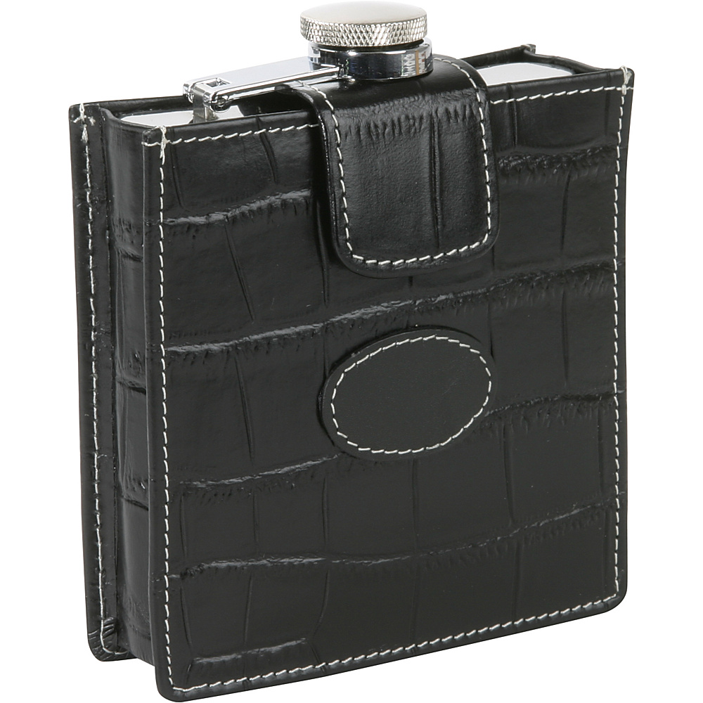Royce Leather Flask w/Removable Croco Cover and Patch - Work Bags & Briefcases, Business Accessories