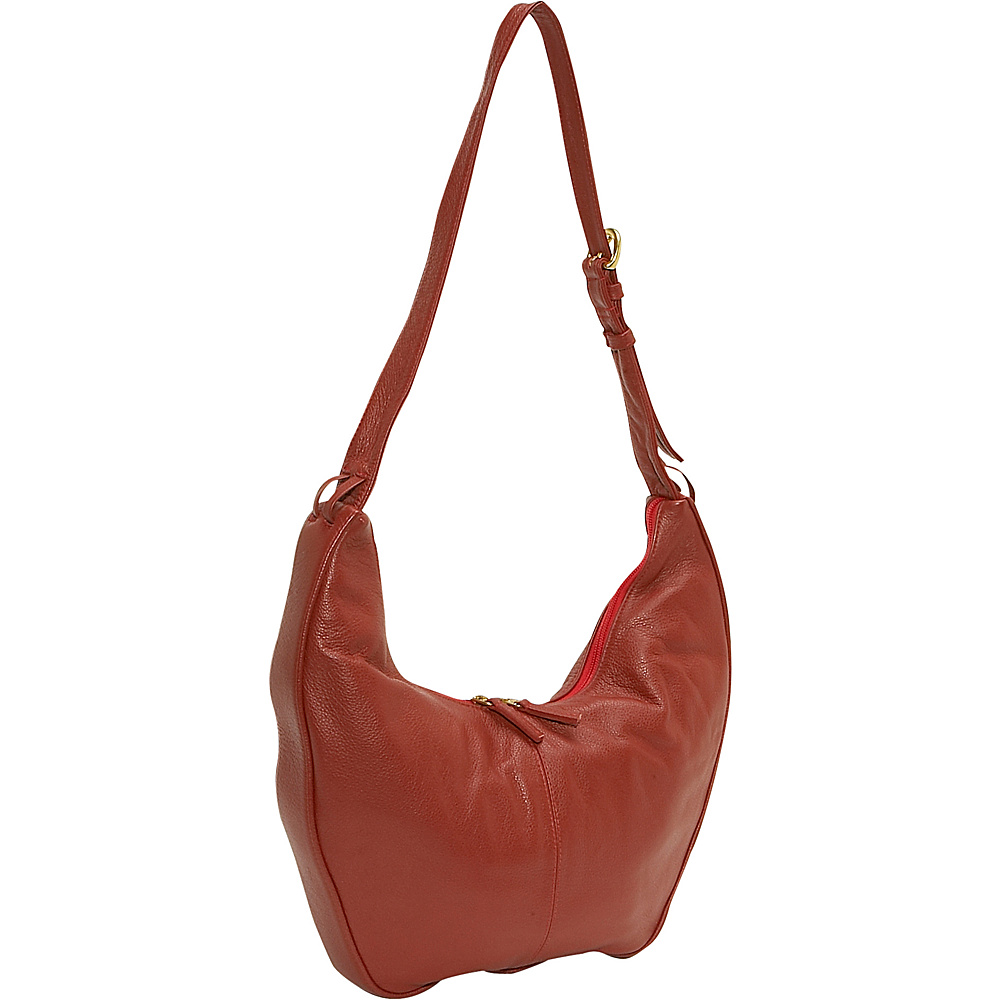 J. P. Ourse & Cie. Bank Large - Berry Red - Handbags, Leather Handbags