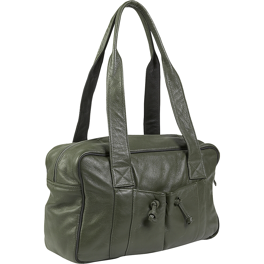 J. P. Ourse & Cie. Duffle Weekender - Olive/Black - Luggage, Luggage Totes and Satchels