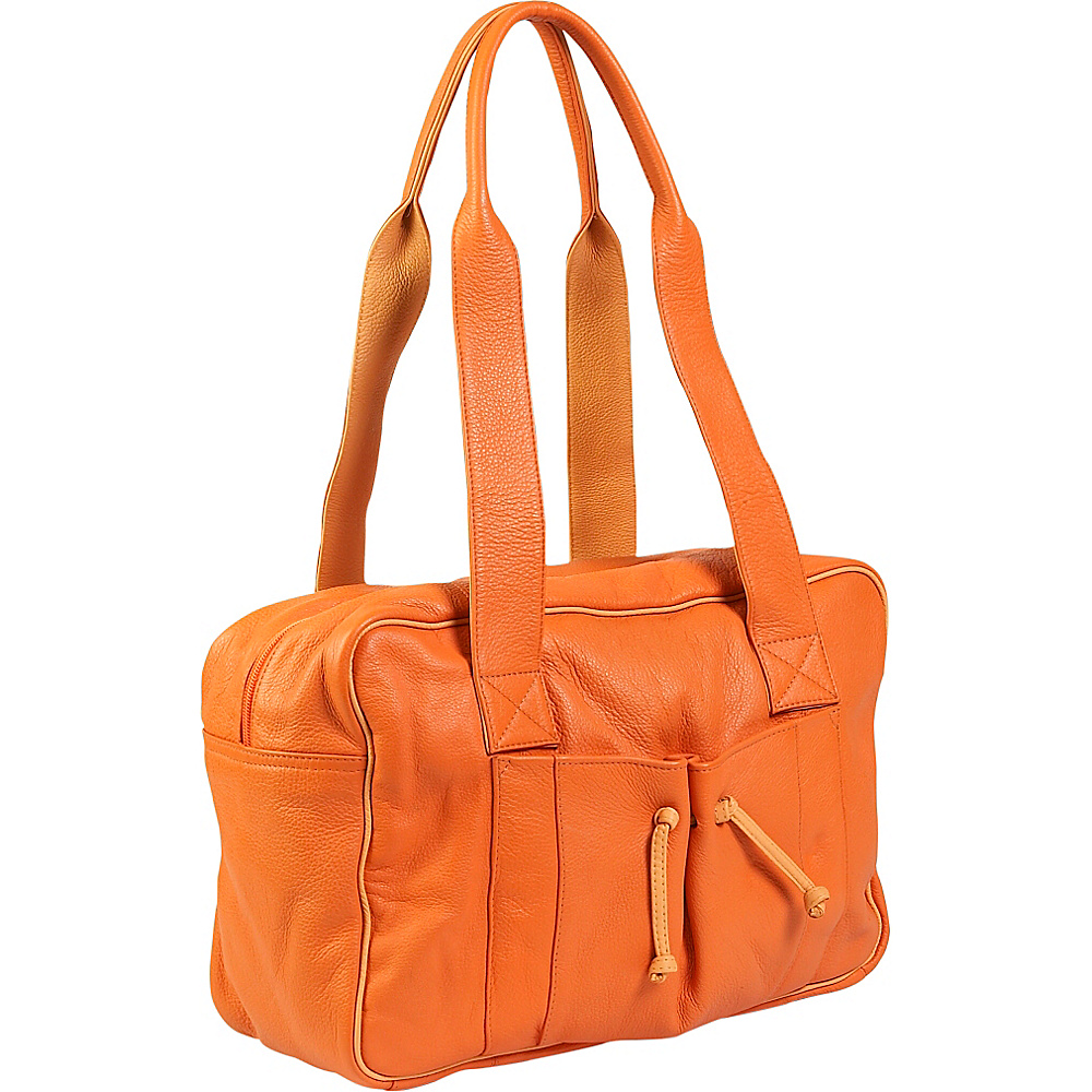 J. P. Ourse Cie. Duffle Weekender Tangerine Butter