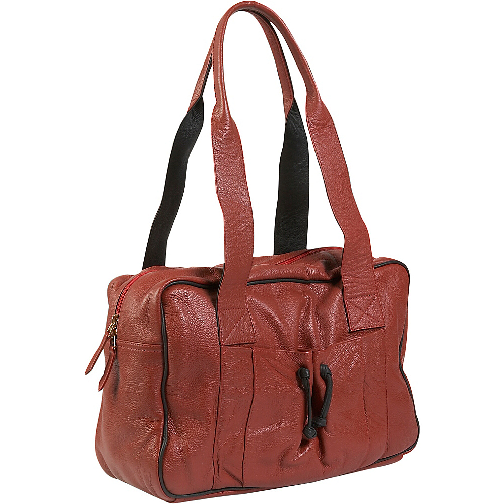 J. P. Ourse Cie. Duffle Weekender Berry Red Black