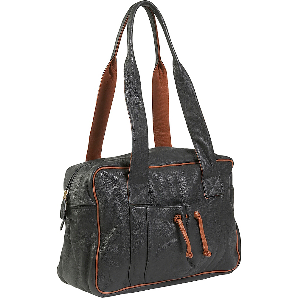 J. P. Ourse & Cie. Duffle Weekender - Black/Tan - Luggage, Luggage Totes and Satchels