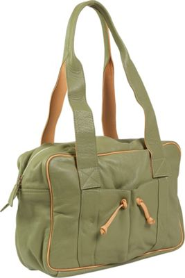 J. P. Ourse & Cie. Duffle Weekender - Kiwi/Butter