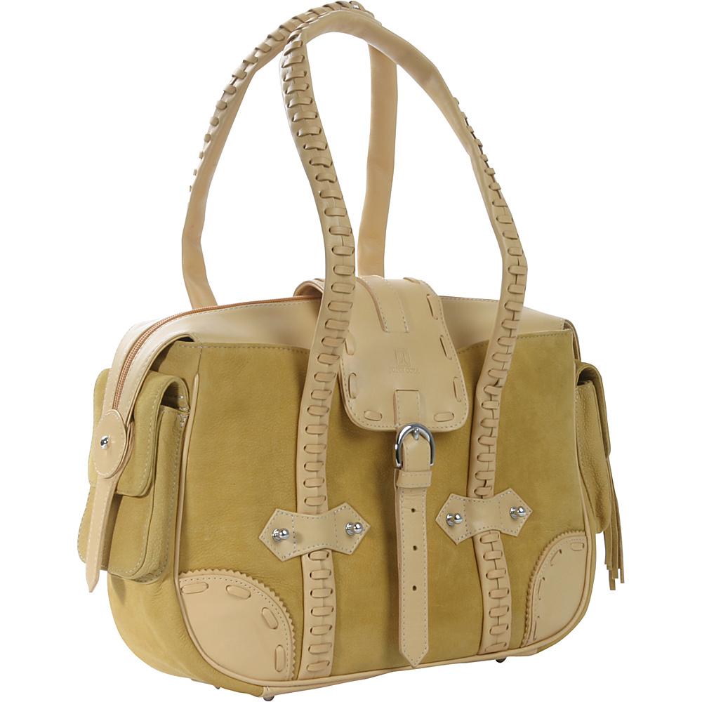 John Cole Fleta - Apricot with Chamomille - Handbags, Leather Handbags