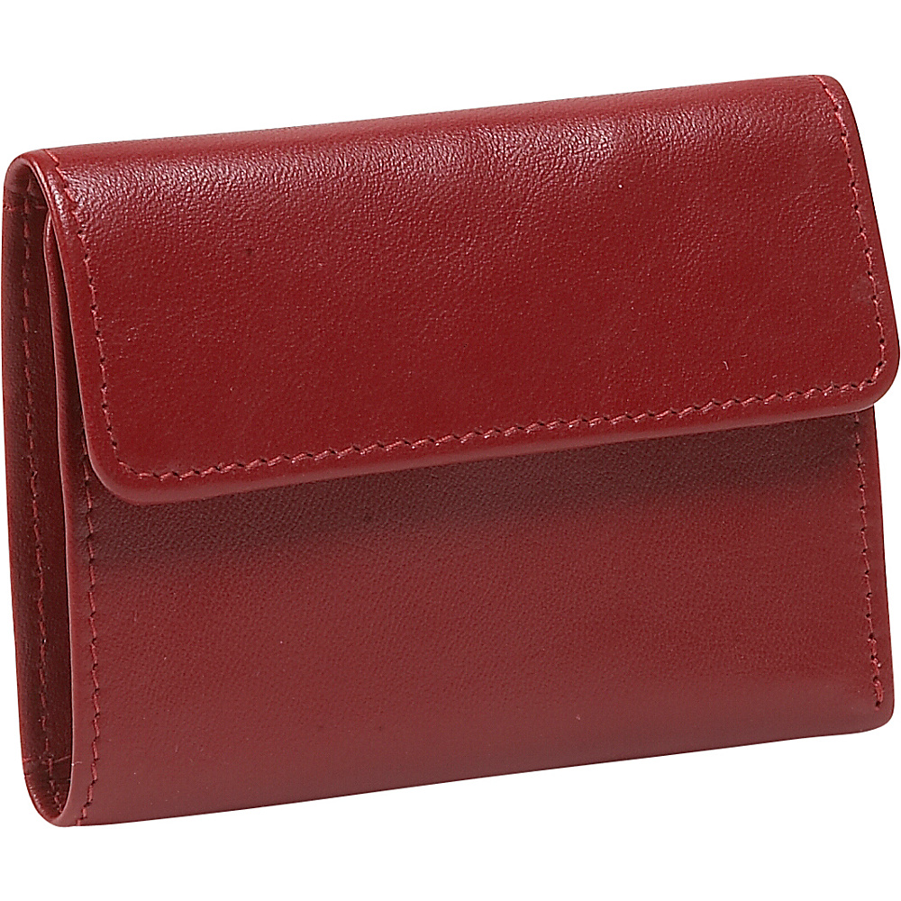 Derek Alexander European Style Mini Billfold - Red - Women's SLG, Women's Wallets