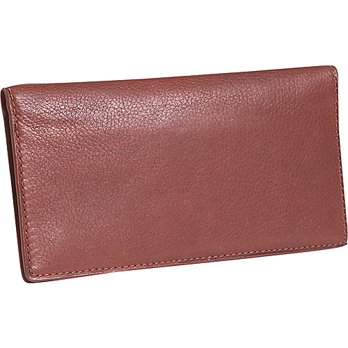 Osgoode Marley Cashmere Delux Checkbook Cover - Brandy