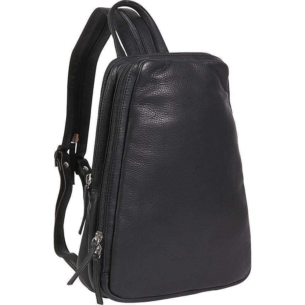 Derek Alexander Small Backpack Sling - Black - Handbags, Leather Handbags