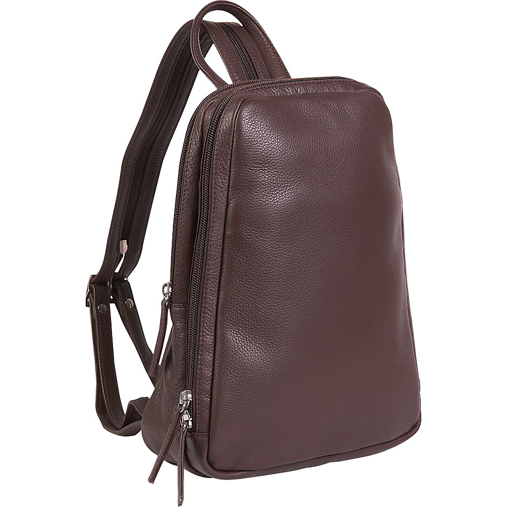 Derek Alexander Small Backpack Sling - Brown - Handbags, Leather Handbags