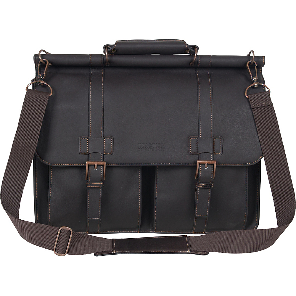 Kenneth Cole Reaction Columbian Leather Dowel Rod - Work Bags & Briefcases, Non-Wheeled Business Cases