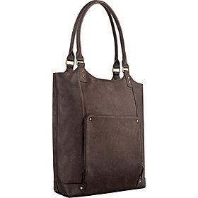 Vintage Leather 15.4'' Laptop Tote Espresso