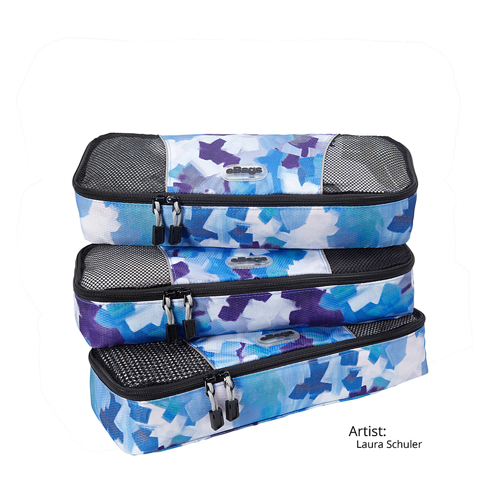 eBags Slim Packing Cubes - 3pc Set 13 Colors Travel Organizer NEW | eBay