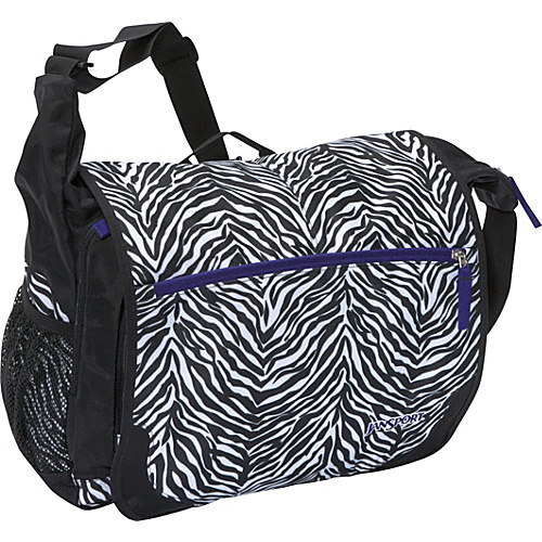 JanSport Elefunk Messenger bag (Printed) Black/White Cosmo Zebra - Messenger Bags, Women's Messenger Bags