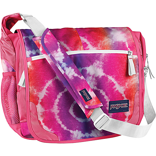 JanSport Elefunk (Printed) Pink Prep Hippy Skip - JanSport Womens Messenger Bags - Messenger Bags, Women's Messenger Bags