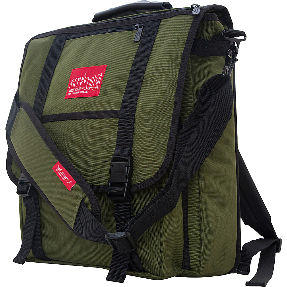 Manhattan Portage Commuter Laptop Bag Olive - Manhattan Portage Non-Wheeled Business Cases - Work Bags & Briefcases, Non-Wheeled Business Cases