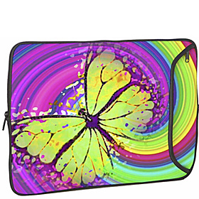 13'' Designer Laptop Sleeve 60s Butterfly
