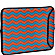 13'' Designer Laptop Sleeve Tangerine & Blue