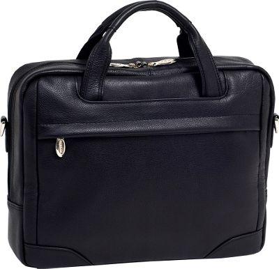 McKlein USA Bridgeport  Leather Laptop Brief - Black promo code 2015