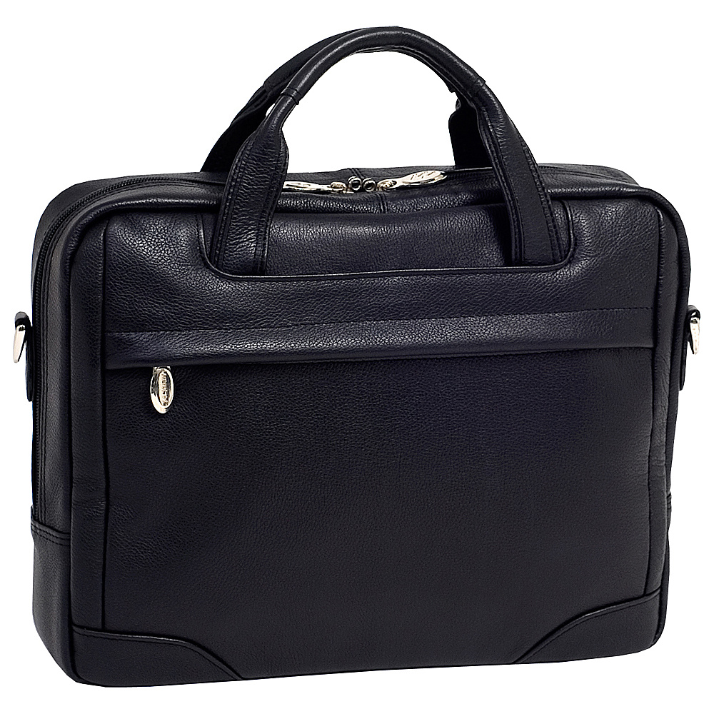 McKlein USA Bridgeport  Leather Laptop Brief - Black - Work Bags & Briefcases, Non-Wheeled Business Cases