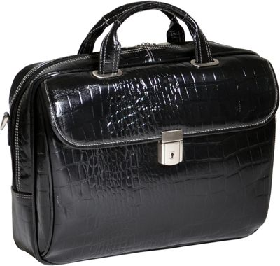 Siamod Monterosso Collection Servano Ladies Tablet Briefcase Black - Siamod Non-Wheeled Business Cases