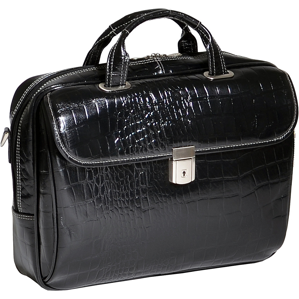 Siamod Monterosso Collection Servano Ladies Tablet Briefcase Black - Siamod Non-Wheeled Business Cases - Work Bags & Briefcases, Non-Wheeled Business Cases