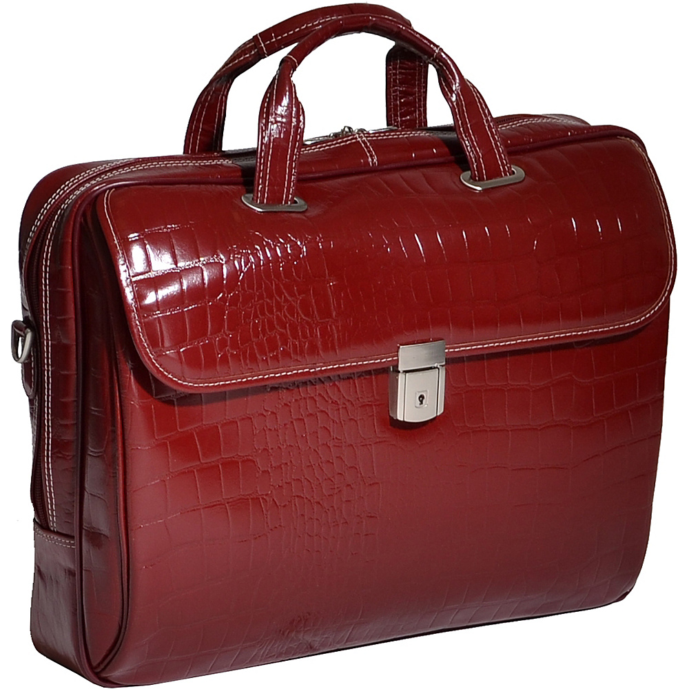 Siamod Monterosso Collection Servano Ladies Tablet Briefcase Cherry Red - Siamod Non-Wheeled Business Cases - Work Bags & Briefcases, Non-Wheeled Business Cases