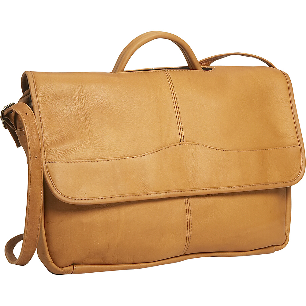 David King & Co. Porthole Briefcase - Tan - Work Bags & Briefcases, Non-Wheeled Business Cases