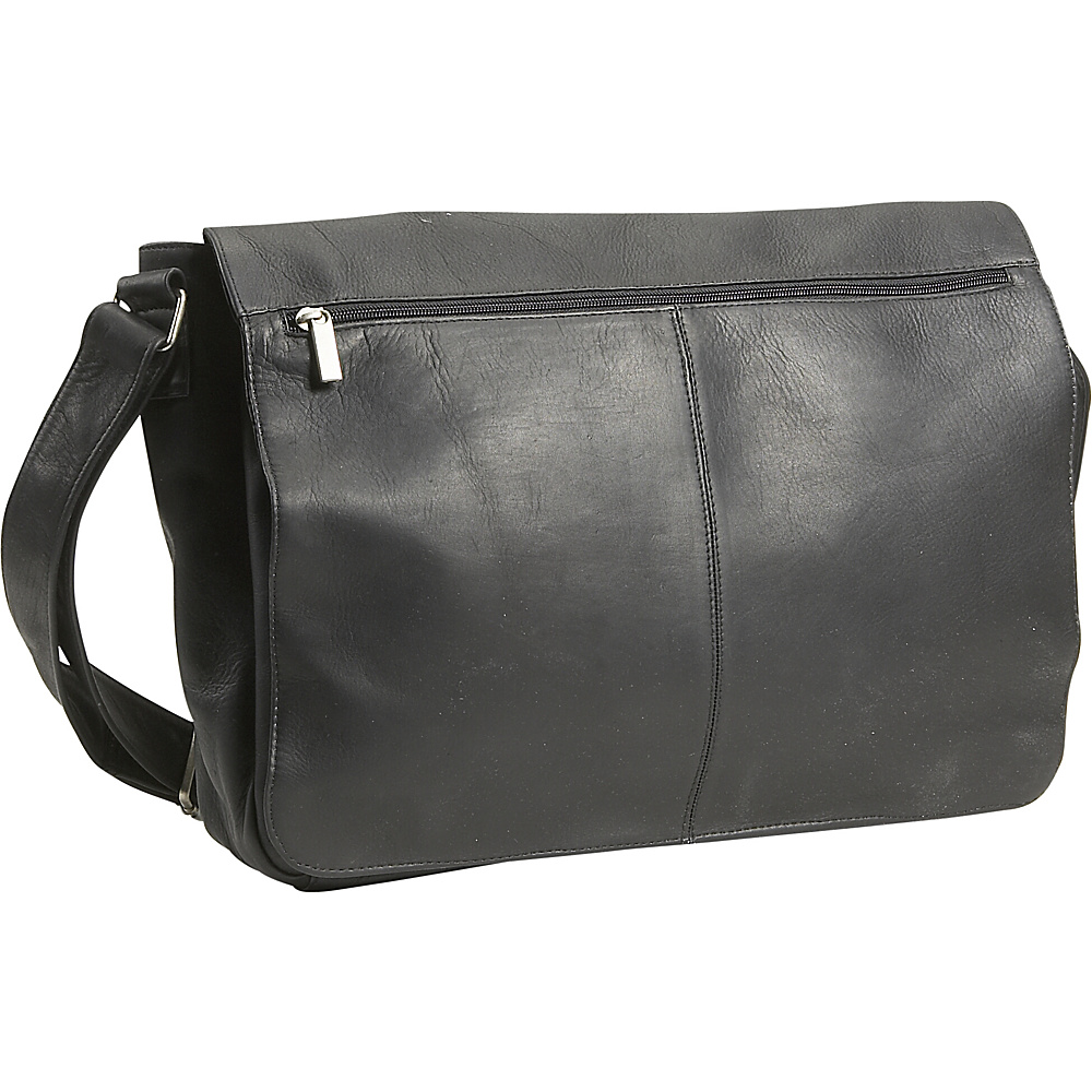 David King & Co. East/West Full Flap Messenger - Black - Work Bags & Briefcases, Messenger Bags
