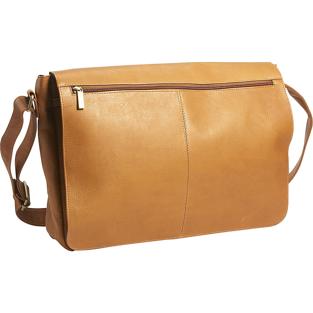 David King & Co. East/West Full Flap Messenger - Tan - Work Bags & Briefcases, Messenger Bags