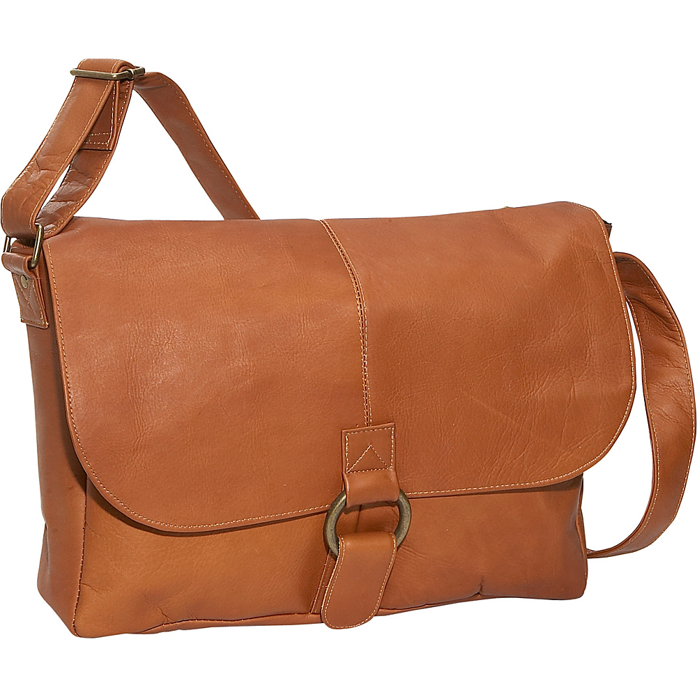 David King & Co. East/West 1/2 Flap Messenger - Tan - Work Bags & Briefcases, Messenger Bags